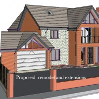 3D Design Rendering of the Remodel by Lancashire Architectural Consultant Chris Sinkinson of Homeplan Designs.