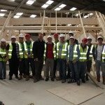 Sevenoaks Architect Tim Ball with group of architecture students.