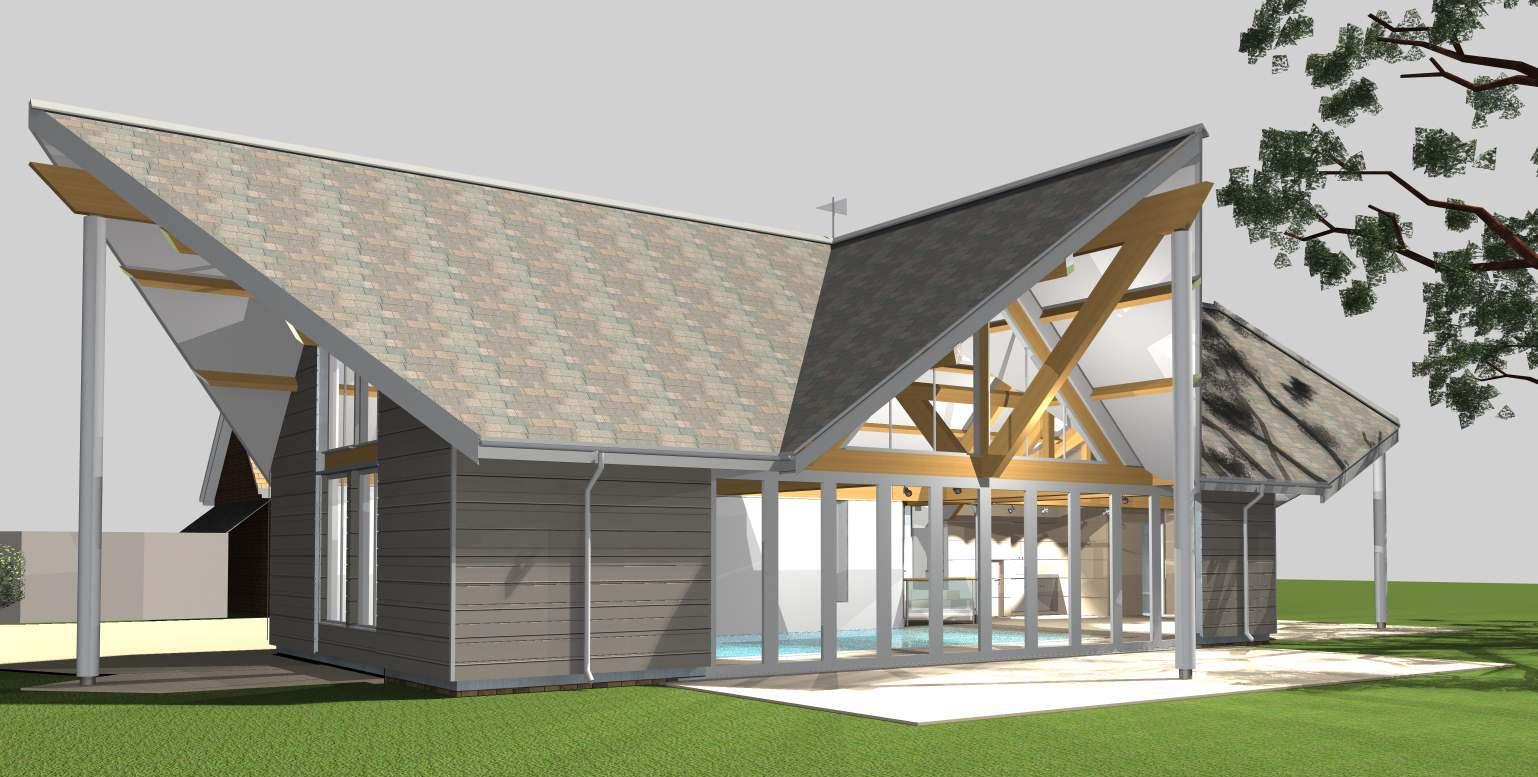 Jhd Architects Sevenoaks Kent Uk Contemporary Pool Roof Inspires Students