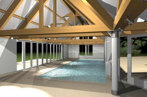 Interior of jhd Architects Kent pool building