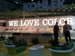 Many designers took notice of the beautiful Kohler fixtures at the conference.