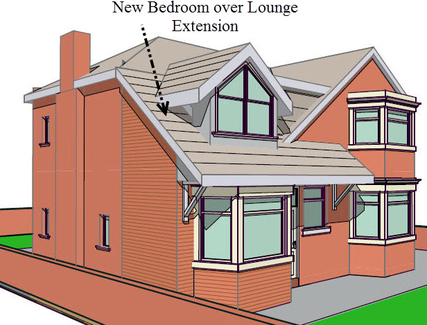 3 bedroom over lounge extension for Marketing for architects and designers